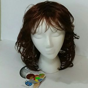 Wig NWT Wavy Copper Red with Bangs 14 1/2 inch